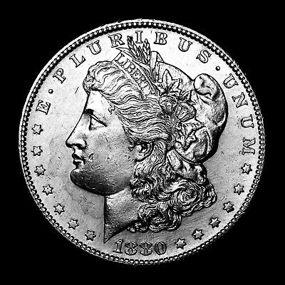 1880 S ~**UNC DETAIL**~ Silver Morgan Dollar Rare US Old Antique Coin! #733