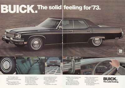 1973 Buick Electra: Solid Feeling (17973) Print Ad