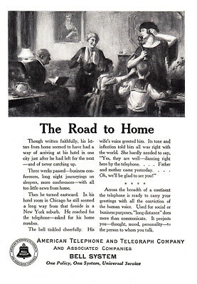 1924 American Telephone: The Road to Home (23804) Print Ad