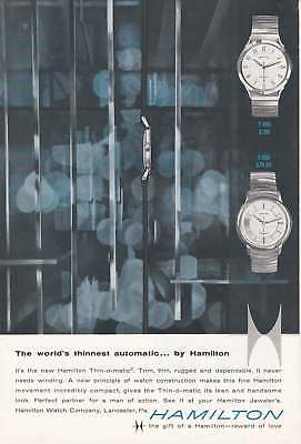 1959 Hamilton Watches: Worlds Thinnest Automatic (20800) Print Ad