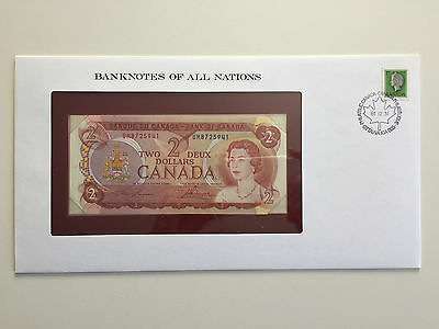Banknotes of All Nations – Canada $2 1974 UNC prefix UM
