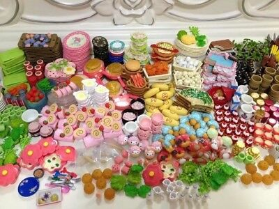 60Pcs/lot Doll Re-ment Mini Food Tableware Miniatures Lovely Dollhouse Meal