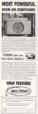 1954 Fedders Room Air Conditioner: Most Powerful (15580) Print Ad