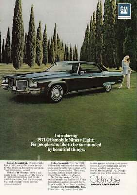1971 Oldsmobile Ninety-Eight: Beautiful Things (14979) Print Ad
