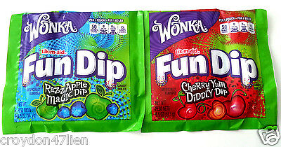 24 Pouches Wonka Fun Dip - Party Favours Lollies