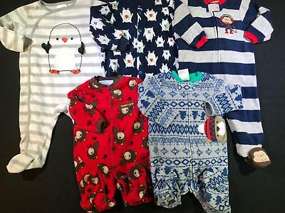 Baby Boy 3-6 Months Carter's Footed Sleeper Pajama Clothes Lot Free Shipping B36