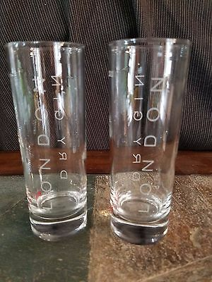 2 Beefeater Premium 1820 London Dry Gin Collins Glasses