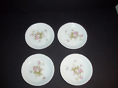 4 Vienna Austria Butter Pats with a Rose Floral Pattern