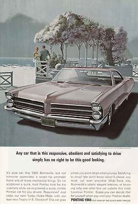 1965 Pontiac Bonneville: Any Car That Is This Responsive (4457) Print Ad