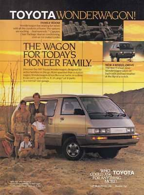 1987 Toyota Wonderwagon: The Wagon for Today's Pioneer (14392) Print Ad