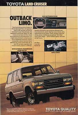 1988 Toyota Land Cruiser: Outback Limo (12667) Print Ad