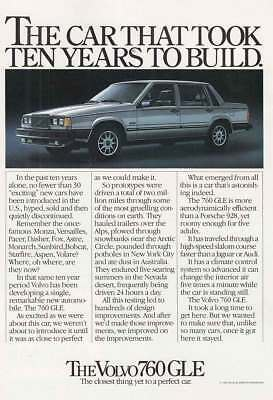 1983 Volvo: Ten Years to Build (17626) Print Ad
