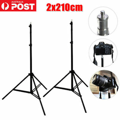 2X Studio Photo Flash Speedlight Umbrella Light Stand Holder Bracket Tripod Kit