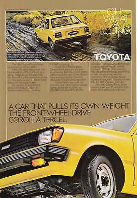 1981 Toyota Corolla Tercel: Pulls Its Own Weight (7308) Print Ad