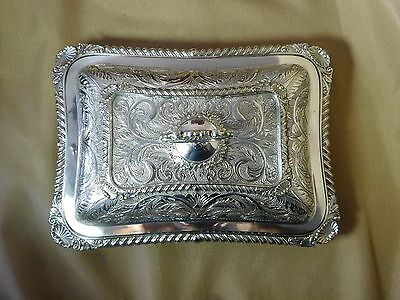 Exquisite Silver Covered Serving Dish