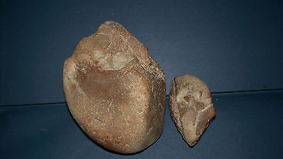 Ancient authentic artifacts  pebble chopper 'Oldowan' type and preform