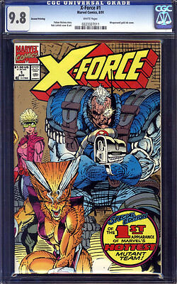 X-Force #1 CGC 9.8 2nd/Second Print/Gold Variant!!!