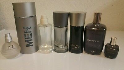 lot of 7 empty cologne/perfume