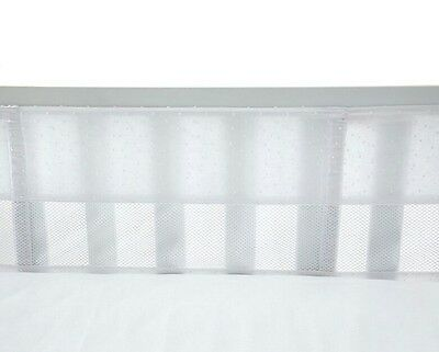 Carter's Lily Collection  Secure Me Crib Liner  White 4 Piece Safe Bumper