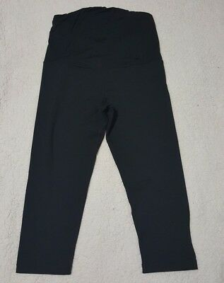 Be Maternity Ingrid And Isabel work out stretch Cropped Legging black size L