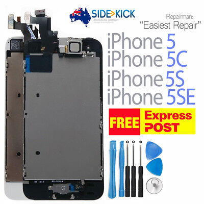 iPhone 5 5C 5S LCD Screen Digitizer Assembly Replacement + Home Button Camera
