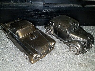 vintage metal bank cars