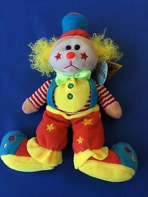"Skansen Beanie Kids  ""GIGGLES the CLOWN Bear """
