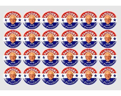 """16-PACK, 2016 BERNIE SANDERS for PRESIDENT 1/"""" CAMPAIGN BUTTONS 4x4 DESIGNS"""