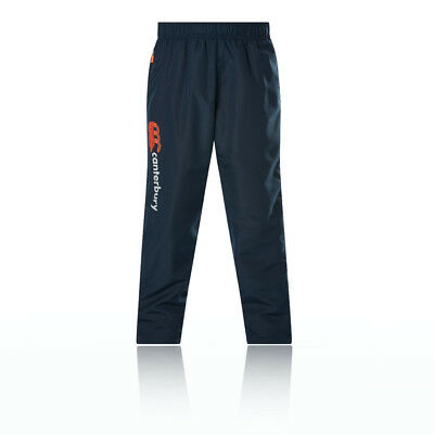 Canterbury Tapered Cuff Woven Boys Blue Running Gym Long Pants Bottoms