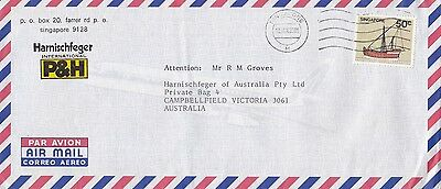 BD889) Singapore 1985 nice advertising Airmail cover to Australia