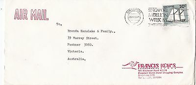 BD891) Singapore 1985 nice advertising Airmail cover to Australia