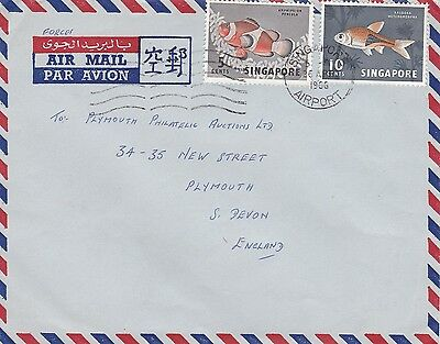 BD898) Singapore 1966 nice Airmail cover to England