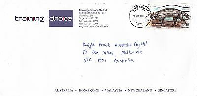 BD901) Singapore 2007 nice Advertising Airmail cover to Australia
