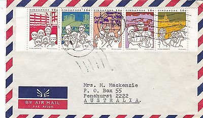BD903) Singapore 1985 nice Airmail cover to Australia
