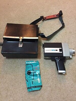 Vintage Retro Hanimex M200 TL Loadmatic Movie Camera, With Case And Manual