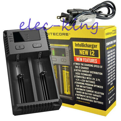 NITECORE New i2 2018 Intellicharger Vape Battery Charger / 20700 26650 18650