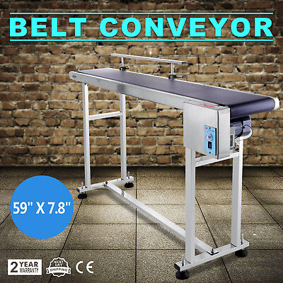 Power Slider Bed PVC Belt Electric Conveyor Powered Rubber PVC Belt 59''x7.8''