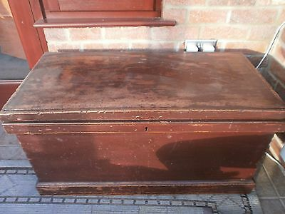 Victorian Carpenters Tool Chest with vintage tools.
