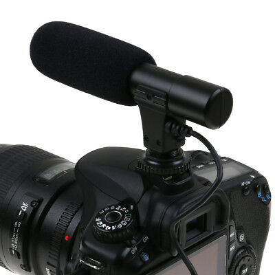 3.5mm Stereo Video Microphone for Nikon Canon DSLR SLR Camera DV Camcorder -AU