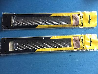 2 x STANLEY CURVED SURFORM BLADE 250mm x 40mm 5 21 299 free post