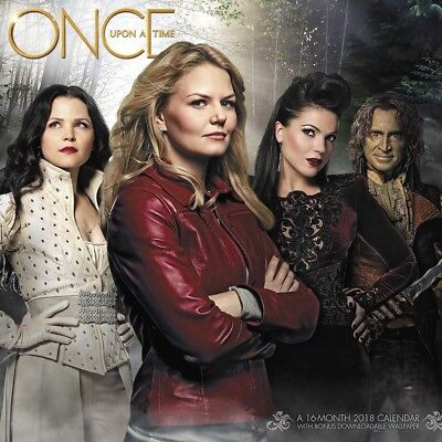 2018 Once Upon a Time 16 month Wall Calendar Popular TV Series New Sealed Gift