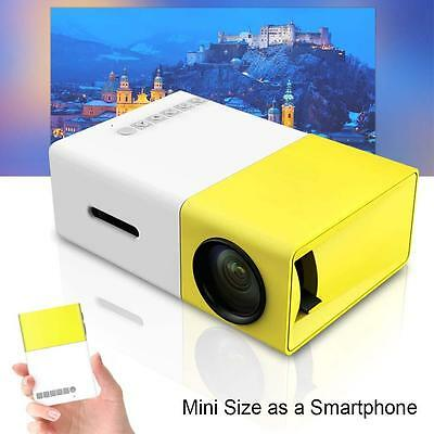 Mini Pocket Game LED LCD Projector Home Cinema Theater for Phone Tablet PC UK TO