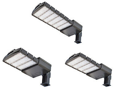 150W 200W 300W LED Parking Lot Outdoor Road Light Fixtures Shoebox Pole Street