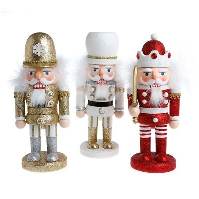 Christmas Exquisite Wooden Nutcracker Walnut Soldiers Home Decorations Gift 24cm