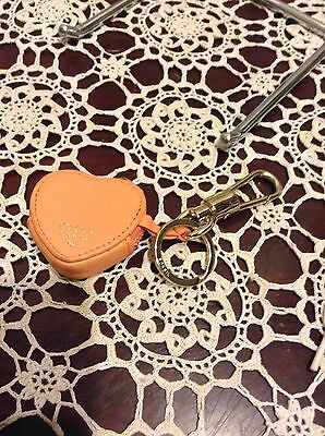 *Fossil* Orange & Pink Heart With Gold Trim Key ring BNWoT