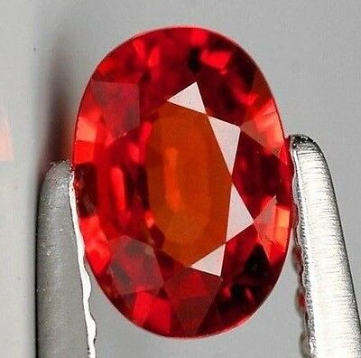 Large Unheated 28.66ct Padparadscha Sapphire Brillaint Orange AAAA+ Gem