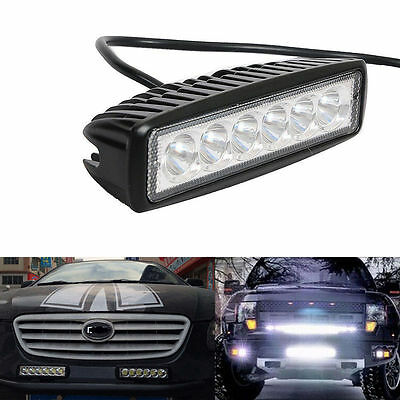 10 X 6 inch 18W LED Light Bar Flush Mount Off-Road Flood Work Lights 12V 24V 6""