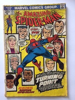 The Amazing Spider-Man #121  THE DEATH OF GWEN STACY KEY ISSUE 1973