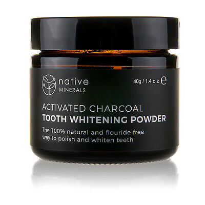 Native Minerals Natural Activated Charcoal Teeth Whitening Powder - Made in UK