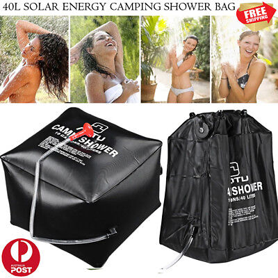Portable 40L Outdoor Camping Solar Heated Water Pipe Camp Solar Heat Shower Bag